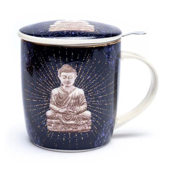 Set de tasse à thé Bouddha bleu