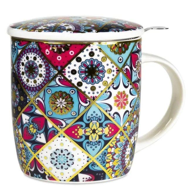 Set de tasse à thé mandala Oriental