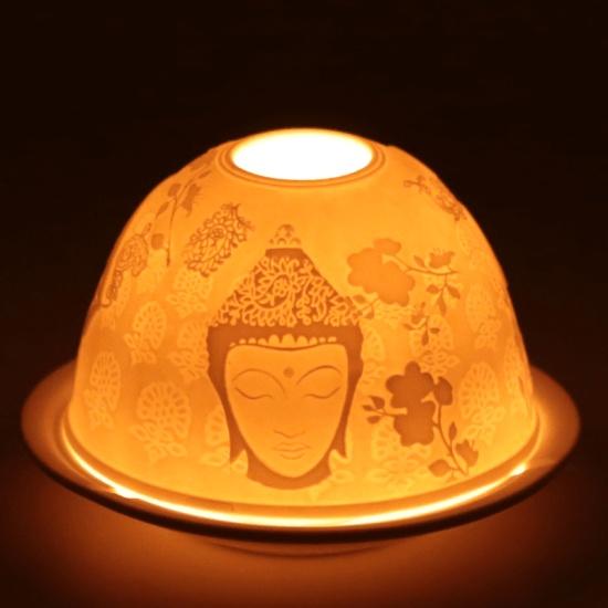 Photophore en porcelaine pour bougie chauffe-plat Meditation